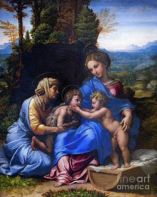 Holy Family With John The Baptist As A Boy And Saint Elizabeth,  Poster by Peter Barritt