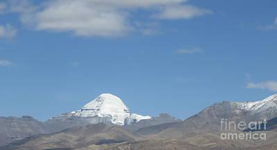 Holy Mount Kailash, Tibet Poster by Mikhael van Aken