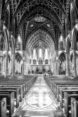 Holy Name Cathedral Chicago Bw 02 Poster by Thomas Woolworth