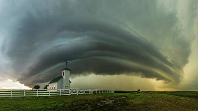 Poster featuring the photograph Holy Supercell  by Aaron J Groen