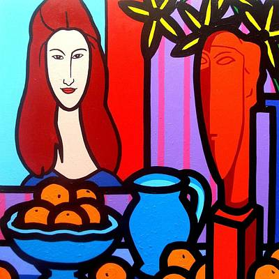 Homage To Modigliani II Poster by John  Nolan