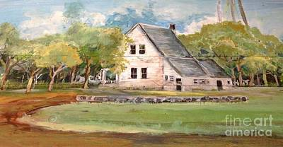 Poster featuring the painting Home Again by Linda Shackelford