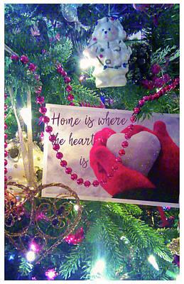 Poster featuring the photograph Home Is Where The Heart Is by Toni Hopper
