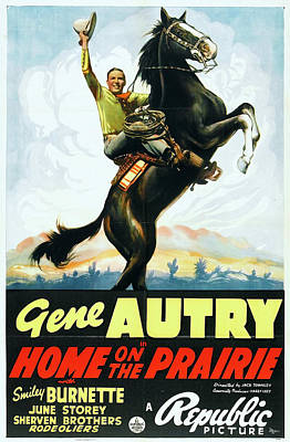 Home On The Prairie 1939 Poster by Republic