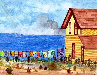 Poster featuring the painting Home Sweet Home by Connie Valasco