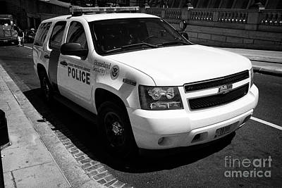 homeland security federal protective service police suv Washington DC USA Poster