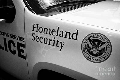 homeland security logo on vehicle New York City USA Poster