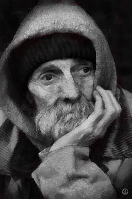 Poster featuring the digital art Homeless by Gun Legler