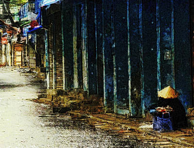 Poster featuring the digital art Homeless In Hanoi by Cameron Wood