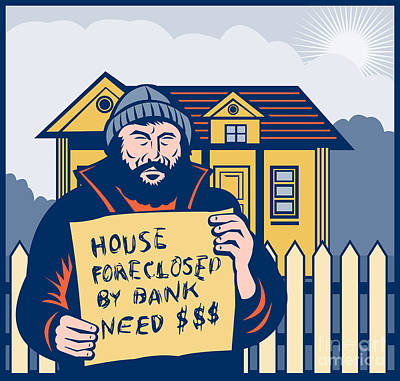 Homeless Man Poster by Aloysius Patrimonio