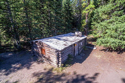 Homestead Cabin Aerial Poster