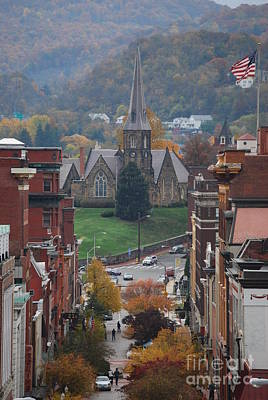 Poster featuring the photograph My Hometown Cumberland, Maryland by Eric Liller