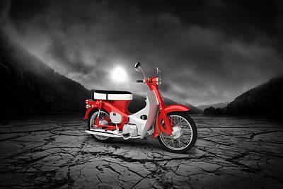Honda C50 Cub 1967  Mountains Poster