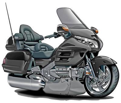Honda Goldwing Grey Bike Poster