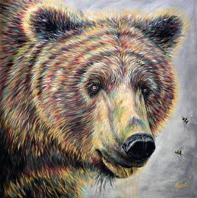Honey Bear Poster by Teshia Art