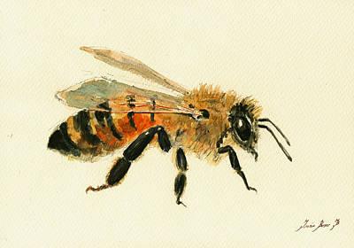 Honey Bee Painting Poster by Juan  Bosco