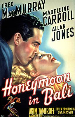 Honeymoon In Bali, Fred Macmurray Poster by Everett