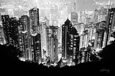 Hong Kong Nightscape Poster by Joseph Westrupp