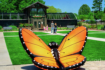 Honor Heights Butterfly House Poster by Tamyra Ayles