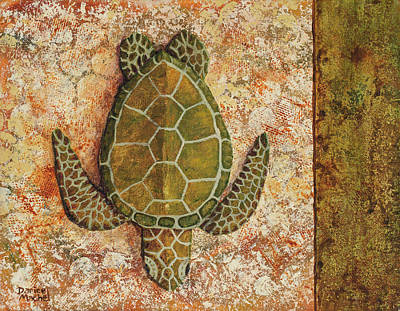 Poster featuring the painting Honu Maui 2 by Darice Machel McGuire