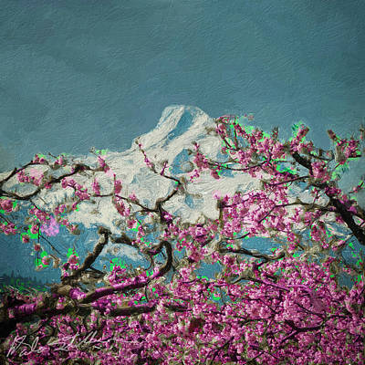 Poster featuring the digital art Hood Blossoms by Dale Stillman