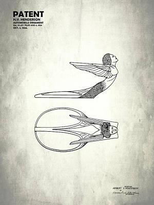 Hood Ornament Patent 1934 Poster