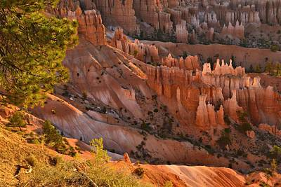 Poster featuring the photograph Hoodoos At Sunrise by Stephen  Vecchiotti