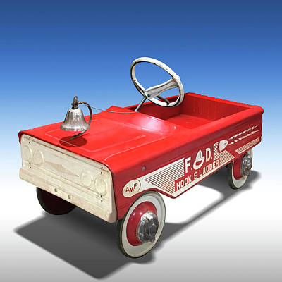 Hook And Ladder Peddle Car Poster