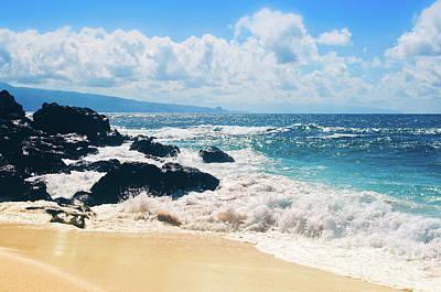 Poster featuring the photograph Hookipa Beach Maui Hawaii by Sharon Mau
