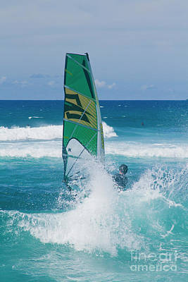 Poster featuring the photograph Hookipa Windsurfing North Shore Maui Hawaii by Sharon Mau