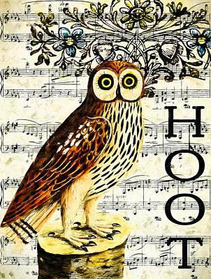 Hoot Poster by John K Woodruff