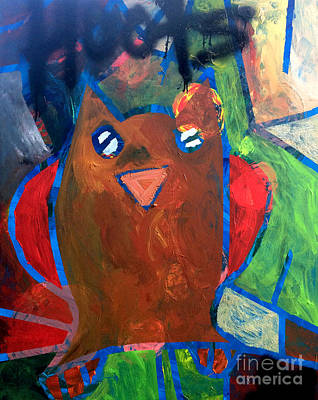 Poster featuring the painting Hoots The Fall Owl by Janelle Dey