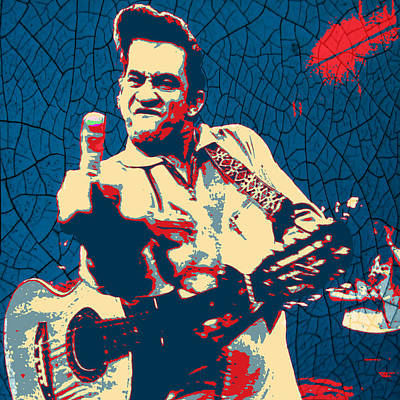 Hope - Johnny Cash Poster by Bill Cannon