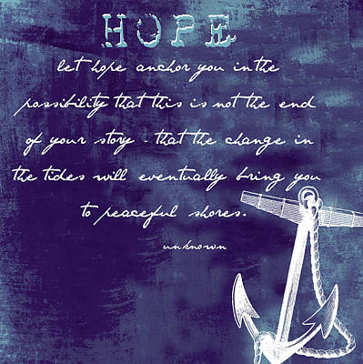 Hope Peaceful Shores V1 Poster by Brandi Fitzgerald