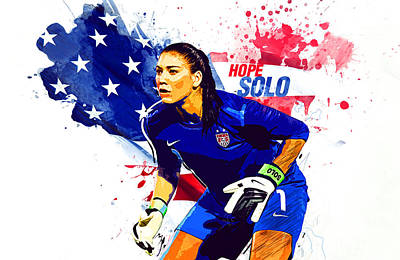 Hope Solo Poster by Semih Yurdabak