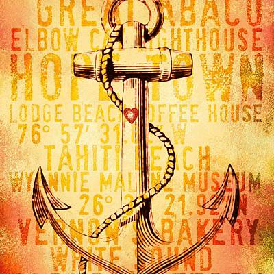 Hope Town Anchor V2 Poster by Brandi Fitzgerald