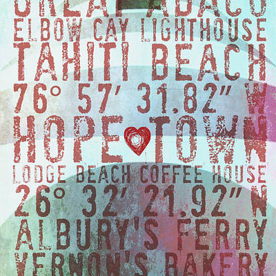 Hope Town Lighthouse V2 Poster by Brandi Fitzgerald