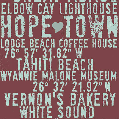 Hope Town Living V2 Poster by Brandi Fitzgerald
