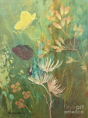 Poster featuring the painting Hopeful Golden Wings by Robin Maria Pedrero
