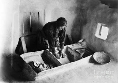 Hopi: Grinding Corn, C1911 Poster