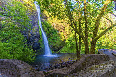 Poster featuring the photograph Horesetail Falls by Jonny D
