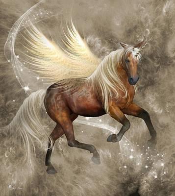 Horned Pegasus Poster by Ali Oppy