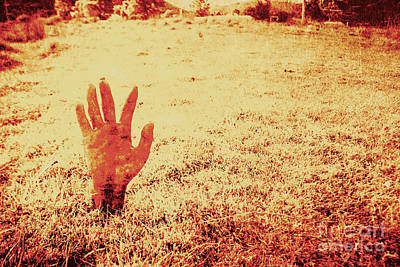 Horror Hand Of A Zombie Awakening Poster by Jorgo Photography - Wall Art Gallery