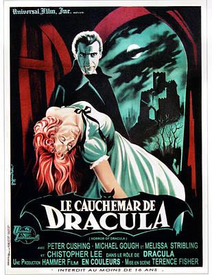 Horror Of Dracula Aka Le Cauchemar De Poster by Everett