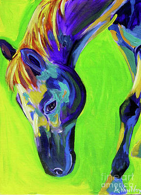 Horse - Green Poster by Alicia VanNoy Call