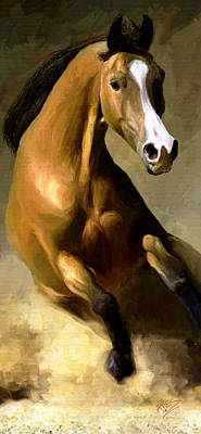 Poster featuring the painting Horse Agility by James Shepherd