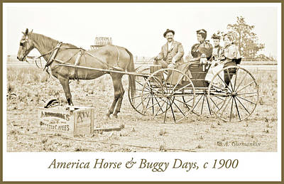 Horse And Buggy Days, American Genre Scene, C.1900, Vintage Photo Poster