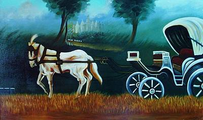 Horse And Carriage Poster by Xafira Mendonsa