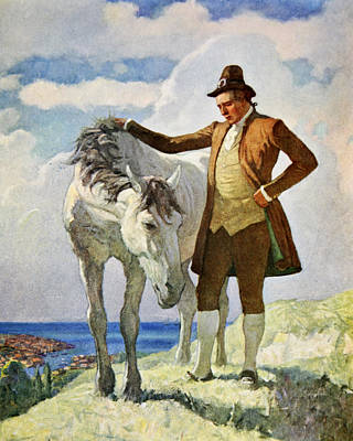 Horse And Owner Poster by Newell Convers Wyeth
