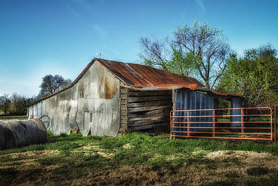 Horse Barn In Color Poster
